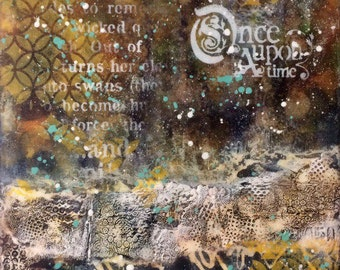 "Mixed Media painting ""Once Upon a Time"""