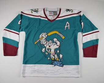 90s Wild Wing Mighty Ducks Paul Kariya #9 Hockey Jersey, Vintage Hockey Jersey, Anaheim Mighty Ducks NHL Hockey Jersey, Retro NHL Jersey