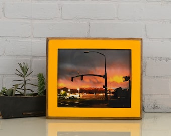 8x10 Picture Frame with Vintage Buttercup Finish in 2-Tone Style - IN STOCK - Same Day Shipping - 8 x 10 Yellow Photo Frame