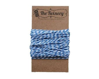 Blue and White Bakers Twine - Denim Twist - 15 Yard Bundle