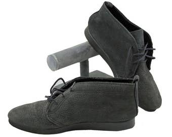 Vtg Daniel Green Boots Black Suede Size 7M Booties Outdorables Steampunk