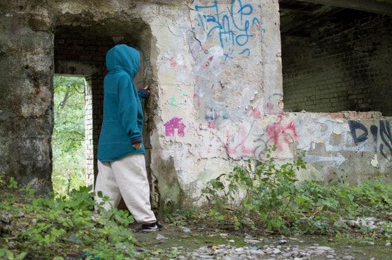 hoodie for Women colored Unisex Hoodie Jacket long Melange Blue men; hoodie Blue hoodie melange for Hoodie women Blue hoodie blue qaTt6q