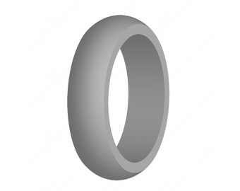 Women's Gray Silicone Wedding Band Engagement Ring Best Quality Skin-Safe Food Grade Cute Athletic Gift For Wife/Her FREE EXPEDITED SHIPPING