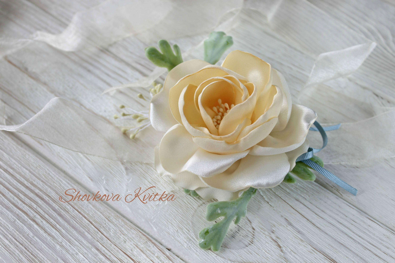 Flower Wrist Corsage Hair Clip Wedding Boutonniere Brooch