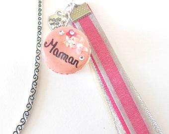 Bookmark - macaron pink customizable polymerclay