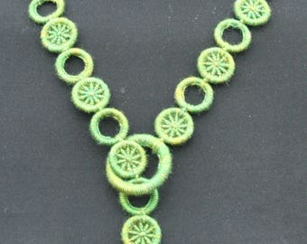 Merivale Dorset Button necklace Kit Moss