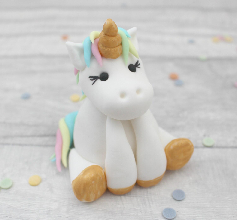 unicorn cake topper sugar unicorn model sugarpaste model