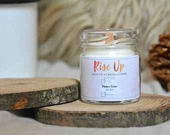 Rise Up - 1.5oz Candle - Hamilton - Scented Soy Candle - Book Lover Gift