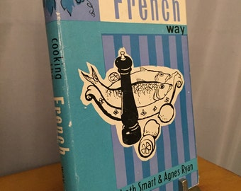 Cooking the French Way Vintage Cookbook Blue Hardcover 1960 Spring Books