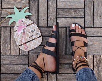 "Leather gladiator sandals, ancient greek sandals, ""Amazona"" sandals,handmade strappy sandal"