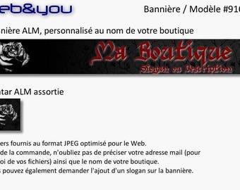 Custom banner, avatar and shop 'Gothic'