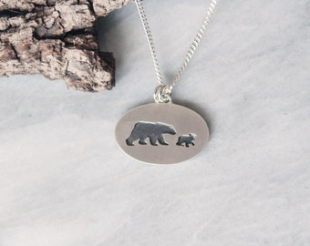 Mama Bear with Cub necklace