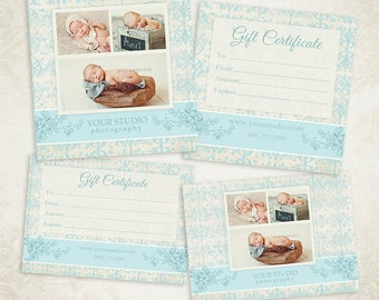 Photography Gift Certificate photoshop template 008- ID0112, Instant Download