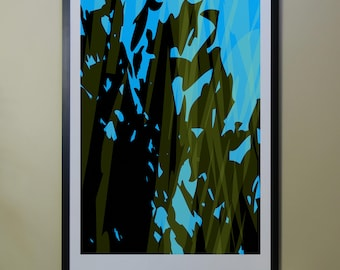 "Abstract Composition: Aspen_07_01a - Contemporary Art - Abstract Design - 26"" x 46"" and 13"" x 19"" - Limited Edition Print"