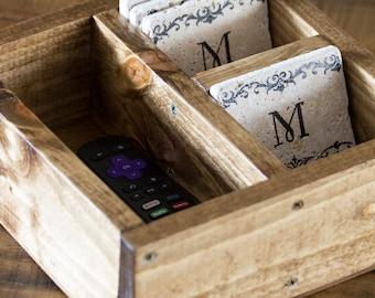 Small Remote Control Box / Remote Control Storage / Coaster Box / Box For  Coasters /