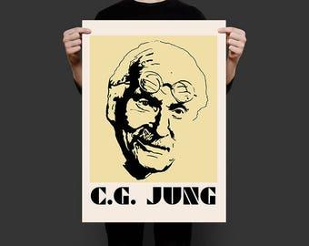"Carl Jung Screenprint Poster 18""x24"""