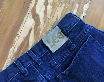 Vintage clothing Lee saphire blue high waisted  jeans