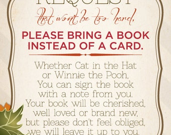 Book instead of card insert