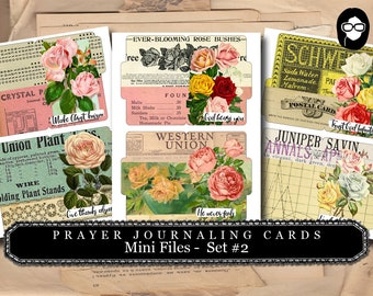 Illustrated Faith - Worship Prayer Journal Mini Files #2 - 3 Page Instant Download - scripture art, bible journaling kit, printable verses
