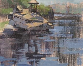 Gazebo at Mohonk - Plein Air Oil Painting by Jennifer Brandon - Jaché Studio