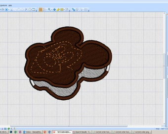 Ice Cream Sandwich Mickey - iron-on patch