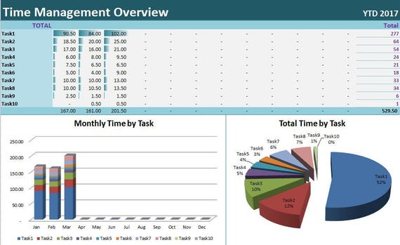 time u0026task tracker excel template activity diary spreadsheet
