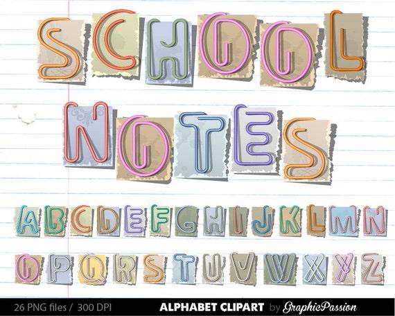 Schule Alphabet Clipart Farbe Alphabet Digital Alphabet
