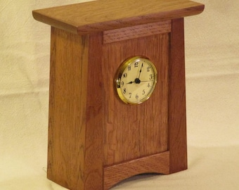 Arts & Crafts, Mission Style Clock - Quarter Sawn White Oak