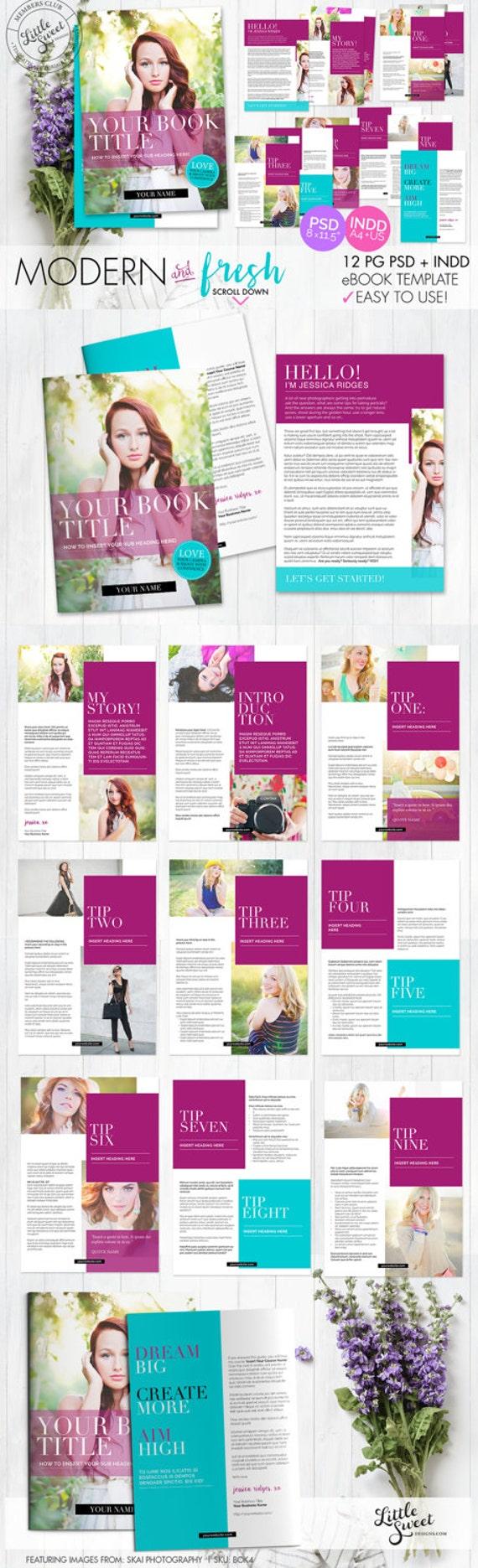 Página 12 eBook plantilla / / InDesign INDD PSD Photoshop