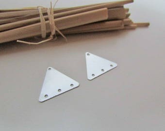 8 connector earring triangle 1.9 cm square silver metal - 159.18