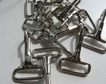 Snap Hooks One Inch Nickel 10 Pieces