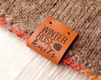 Product labels, leather labels, personalized with your logo or custom text