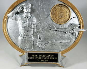 United States Navy Resin Oval Award-Free Engraving!