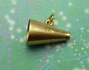 Vintage Sterling Silver Dangle Charm - Megaphone