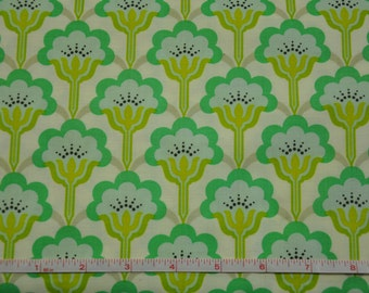 Blue & Green Pop Blossom by Heather Bailey 100% Cotton Quilt Fabric by True Colors / Heather Bailey fabric/ Pop blossom fabric/ cotton