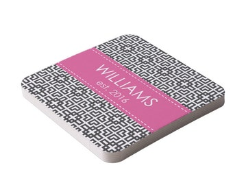 Personalized Paper Coasters- Many Colors Available- Bar Coasters- New Couple Gift, Hostess Gift, Housewarming gift  Coasters