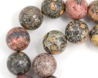 Leopard Skin Jasper Beads - 12mm Round
