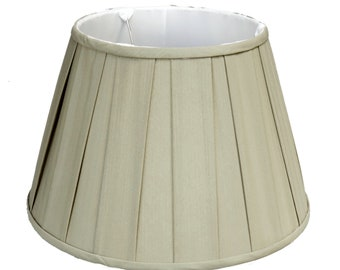 Euro Box Pleat Shallow Empire Lamp Shade Sage Green Linen