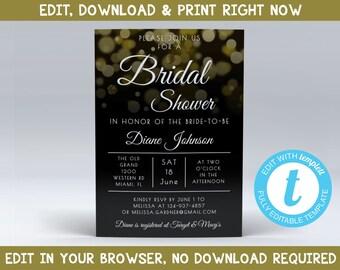 Bridal Shower Invitation Templates, Bridal Shower Invitation Download, Printable Bridal Shower Invitations Templates