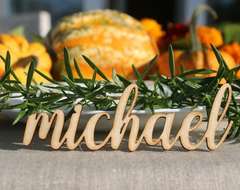 98 Laser Cut wood Thanksgiving  Name signs/Custom Laser cut Thanksgiving  Setting Signs/Thanksgiving place cards /Thanksgiving table decors