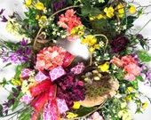 Spring Door Wreath with Y...