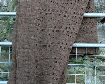 Baby blanket: pure Manx Loaghtan wool