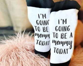 Mom Socks, New Mom Gift, Mother's Day Gift, Funny Socks, Socks, Personalized Socks, Custom Socks, Novelty Socks, Cool Socks --62175-SOX1-603