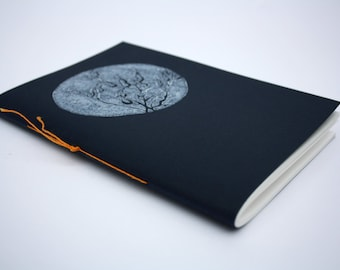 NOTEBOOK A5 / hand printed / hand stitched / sketchbook / WEEDS / nature / plants / marine / drawing paper