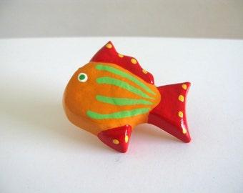 Orange Fish - Keramik Schublade Knob