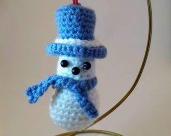 Snowman Ornament (amigurumi)