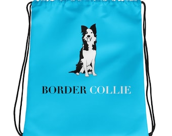Border Collie Drawstring bag by Bnvdo