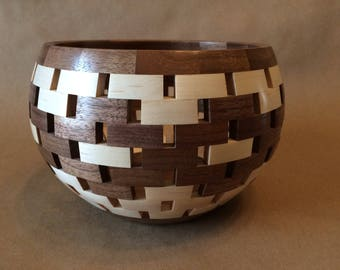 Open Segmented Bowl - Maple and Walnut