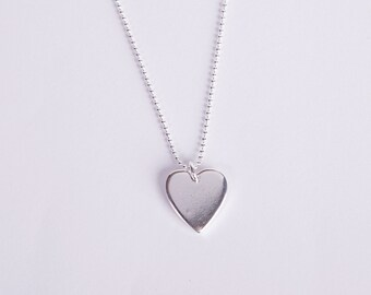Long Necklace Silver Necklace Silver Heart Love Chain Hearts Silver Plated Chain