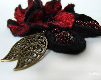 "Handmade felted pin ""Agnia"""